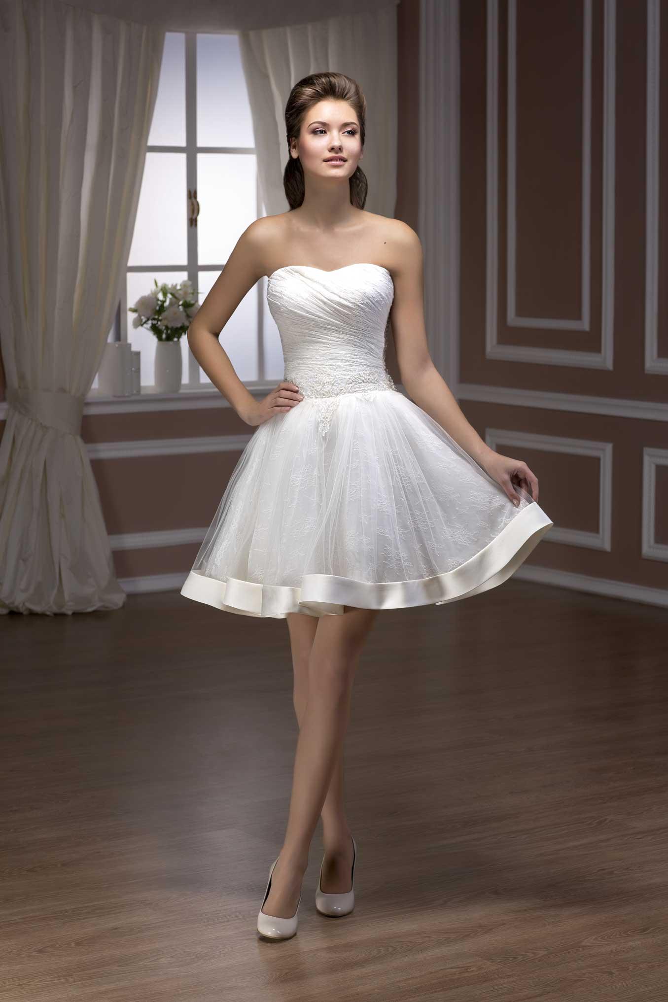 Свадебное Платье Короткое Пышное Купить